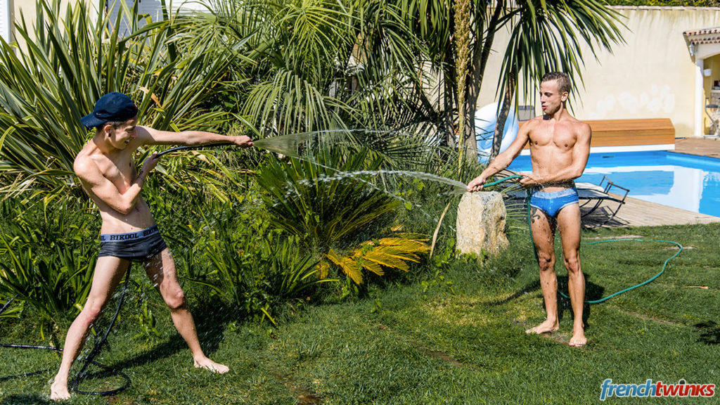 French Twinks Baptiste Garcia and Loic Miller - Midsummer Evening's Passion
